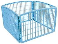 IRIS 24'' Exercise 4-Panel Pet Playpen without Door, Blue by IRIS USA, Inc.