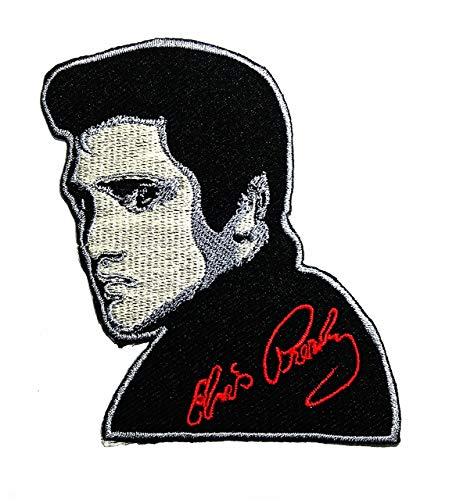 Music E The King Rock and roll pop Music Rockabilly Country Blues Gospel Band Music Logo Patch Embroidered Sew Iron On Patches Badge Bags Hat Jeans Shoes T-Shirt Applique