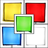 PBL Color Correction Gels 33'x34', Primary Lighting Filter Gel Pack of 5, Includes Diffusion Gel Steve Kaeser Photogrpahic Lighting & Accessories