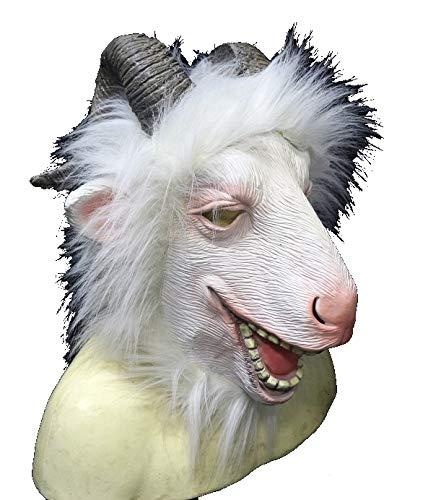 Máscara de cabra de montaña, disfraz divertido para eventos y fiestas, zoológico, diversión de Halloween