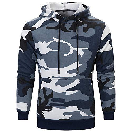 BEIXUNDIANZI Sweat à Capuche pour Homme Sweat Sportswear Sweat d'entraînement de Base Sweat pour Homme Chemise à Manches Longues Camouflage XL