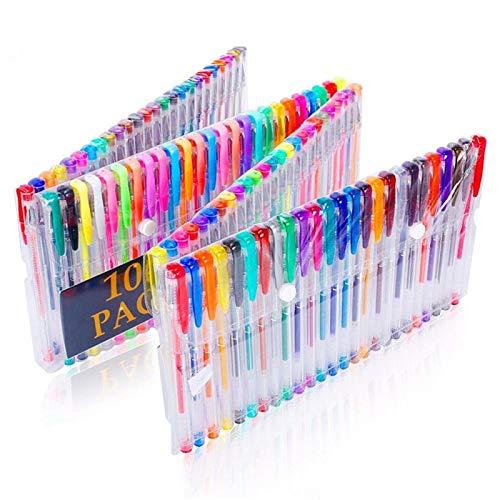 Bolígrafo Conjunto de Pluma de Gel Fluorescente Color Fluorescente de Color Flash LJR 100