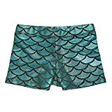 HDE Gymnastics Shorts for Girls - Mermaid Dance Shorts Fish Scale Shorts