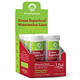 Amazing Grass Effervescent Electrolyte Tablets: Greens + Hydration Water Flavoring Tablet with Vitamins, Watermelon Lime, 60 Count