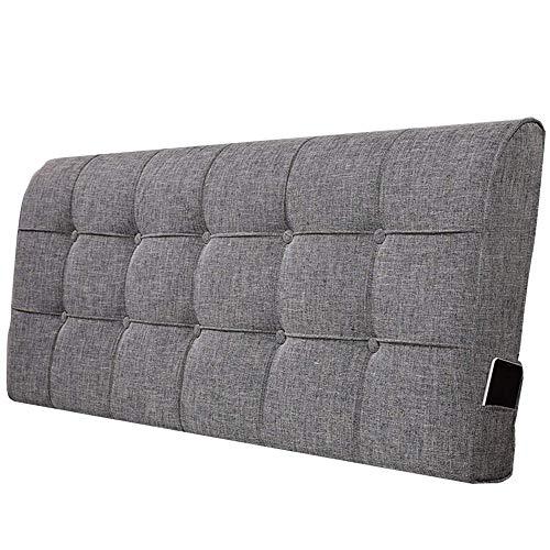 QIANCHENG-Cushion Rückenlehne Bett Kissen Doppel Extra Groß Sofa Weiche Tasche Rückenlehne Positionierung Lesen Antifouling Verschleißfest 5 Farben (Color : #4, Size : 130x60x12cm)
