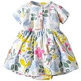 Vestido Niña Ropa Bebé Vestidos Manga Corta Princesa ReciéN Nacida Verano Flor Impreso Traje Flor 12-18 Meses