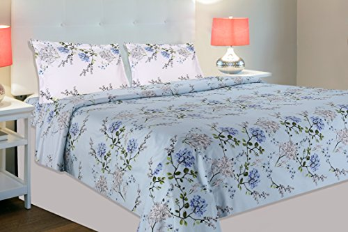 haus & kinder Victorian Summer Dream 100% Cotton Double Bedsheet with 2 Pillow Covers, 186 Thread...