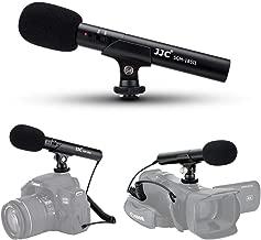 JJC On-Camera Shotgun Mic Microphone for Sony A6000 A6100 A6300 A6400 A6500 A6600 A7 III A7S II A7R Canon EOS 90D 6D M50 RP M6 Mark II Nikon D750 D7500 D5600 Z50 Z6 Z7 Panasonic G7 G9 G85 GH5 GH5s GH4