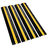 B BAIJIAWEI Cable Ramp - 1 Channel Cable Protector - 4 Pack Heavy Duty 18000LBS...
