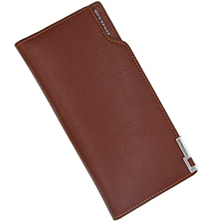 BeniNew men's wallet simple long-capacity multi-function hand package pu wallet-Shallow