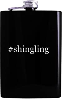 #shingling - 8oz Hashtag Hip Alcohol Drinking Flask, Black