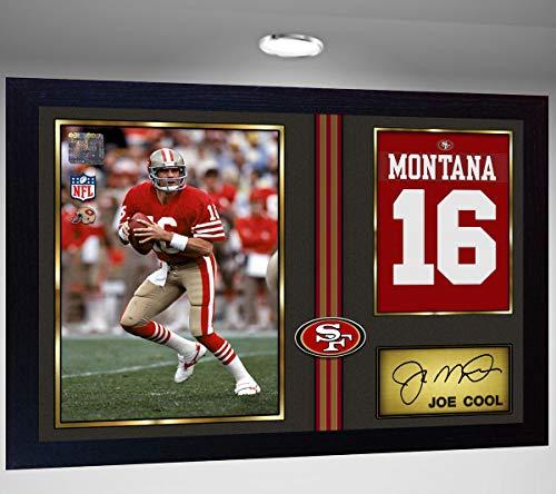 SGH SERVICES Joe Montana Joe Cool SF 49ers NFL Signed Autograph American Football gerahmt # 2
