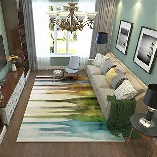 Xiaosua Wasbare schimmelwerende Eetkamer Tapijt Moderne abstracte inkt ontwerp woonkamer decoratie tapijt, multi-size slaapkamer tapijt anti-allergische Tapijten