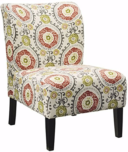 Signature Design by Ashley - Honnally Accent Chair - Contemporary Style - Floral Multi-Color