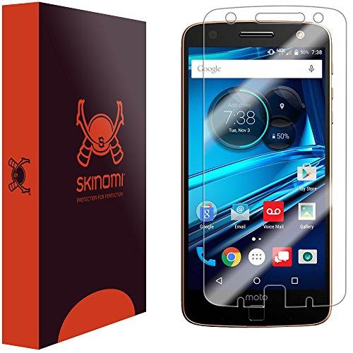 Skinomi Screen Protector Compatible with Moto Z Force Droid (Verizon Droid Edition) Clear TechSkin TPU Anti-Bubble HD Film
