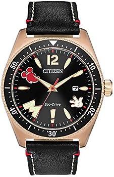 Citizen Mickey Mouse & Friends Stainless Steel Calfskin Strap Men's Watch