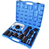labwork 21Pcs Auto Ball Joint Press U Repair Removal Tool Installing Master Adapter Universal Master Ball Joint Press U-Joint Puller Removal Service Adapter Fit for 2WD and 4-Wheel Drive Car (Blue)
