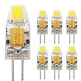 HHGN 6pcs G4 1W LED Capsule Bombillas 12V AC/DC 10W halógeno T3 Equivalente Bulbo, no Regulables, de Silicona, Blanco cálido, G4, 1,20W 12.00V Blanco frío,a
