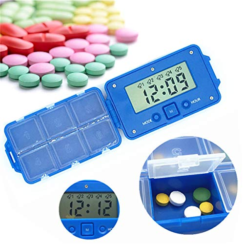 BrilliantDay Digitale Pillendose Wecker Pillenbox Timer Alarm Pillen Elektronische Pillenbox Pillentimer mit 6 Fächer Lagerung Für Reise und täglichen Gebrauch#2