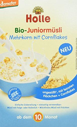 Holle Bio-Juniormüsli Mehrkorn mit Cornflakes, 4er Pack (4 x 250 g)