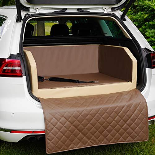 CopcoPet Two Autohundebett Hundebett Kofferraum Transportbett Autoschondecke (100 x 70 x 38 cm, Mocca)