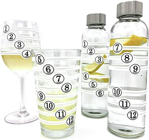 SimplePax Drink Markers 24 Number Pieces Included Drink Markers for Glasses Bottles Kids Cups product image