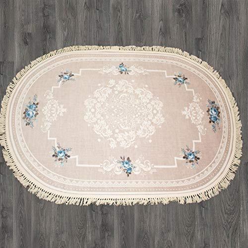 Brillant Teppich 130 x 190 cm Oval Rutschfest Pflegeleicht Top Qualität Garden 803