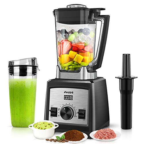 Arcbt 1450 Watt Countertop Blender with 72oz BPA-Free Pitcher, Professional High Speed Blender with 9-Speed Control, Pulse and 3 Blending Presets for Shakes, Smoothies, Frozen Fruit, Ice Crushing