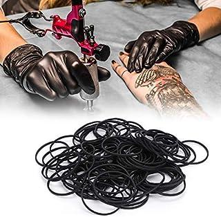 100 stuks professionele schokbestendige rubberen bandjes voor tattoo-machines.