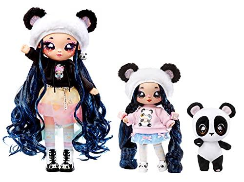 Na Na Na Surprise Family Set de 3: 2 Suaves y 1 Mascota-Juguetes para niños-Familia, muñecas, 12 Accesorios, Ropa removible y 1 Panda de Peluche (575979C3OC)