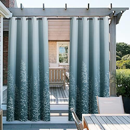 CWYP-MS Cortinas Exterior, Al Aire Libre Impermeable Impreso Pabellón Pabellón Sombreado Simple Modern Privacy/Gazebo Pergola/Porch/Decoración del hogar Protector Solar Aislamiento de Calor