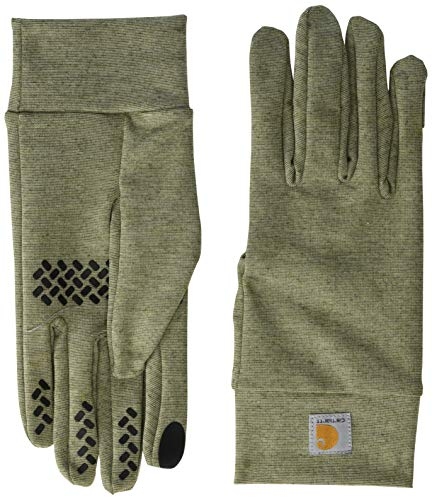 Carhartt Men's Heavyweight Force Liner Glove, Burnt Olive Heather, L