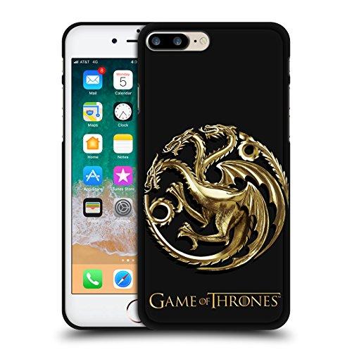 Head Case Designs Licenciado Oficialmente HBO Game of Thrones Sigilos - Targaryen Gold Varios diseños Funda de Gel Negro Compatible con Apple iPhone 7 Plus/iPhone 8 Plus
