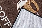 Andiamo 1100335 Küchenläufer Coffee Cups Küchenteppich Tassen Kaffee Oeko Tex, 67 x 180 cm, braun - 5