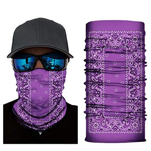 4Clean - Braga de cuello 3d, mascarilla facial para exterior, bandana para la cabeza, pasamontañas, para motocicleta, esquí, ciclismo, protección contra rayos UV, protección contra el polvo