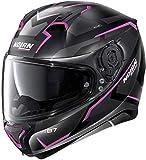 Nolan N87 Plus Overland N-Com - Casco para moto, color negro mate y rosa XXS (54)