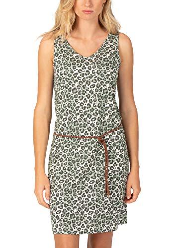 Timezone Damen Printed Jersey Dress Kleid, Beige (Light Grey Leo 2315), 42 (Herstellergröße: L)