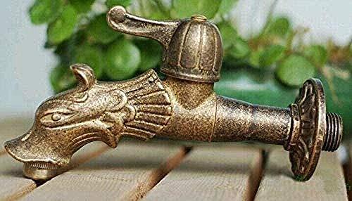 FACAIBA Wasserhahn Garten Wasserhahn Drache Tierform Garten Ländlicher Stil Antiker Bronzedrache Mit E Outdoorfor Garten
