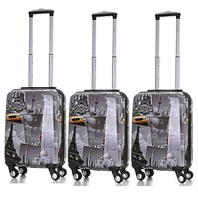 5 Cities Bagage Cabine Bagage à Main Valise Polycarbonate Rigide à 4 roulettes, Approuvées pour Ryanair, Easyjet, Air France, Lufthansa, Jet2 et Plus
