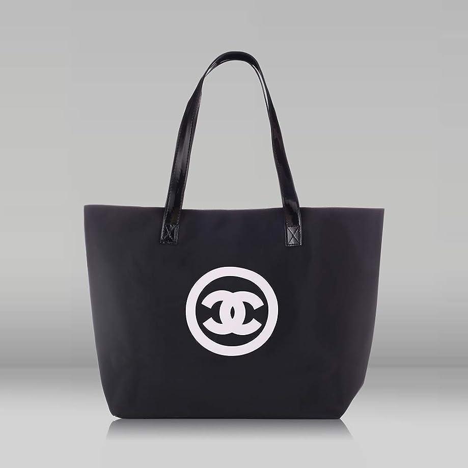礼儀デザイナー認証トートバッグ ハンドバッグ レディース大容量 無地シンプル バッグ 高級 人気 手提げバッグ (black)