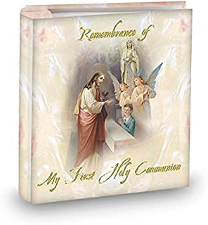 My First Holy Communion Boys 4x6 Photo Album, Holds 50 Photos