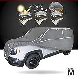 Walser Telone antigrandine Hybrid UV Protect SUV, Impermeabile e Traspirante y restistente ai Raggi, Garage antigrandine Set di Cinghie di Fissaggio Incluso, Dimensione: M