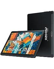 HOOZO タブレット 10インチ wi-fiモデル Android10 極高解像 IPSディスプレイ1920X1200 目に優しい! 8コアCPU 最大1.6Ghz RAM3GB/ROM32GB 128G拡張可能Bluetooth5.0 5GHz/2.4GHz Wi-Fi対応 6000mAh大容量バッテリー FM対応 8MPリアカメラ USB Type C ポート デュアルスピーカー (black)