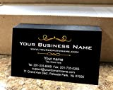 Simple Custom Premium Business Cards 500 pcs Full color - Black front-White back, 16pt Cover Stock (129 lbs. 350gsm-Thick paper), Made in The USA