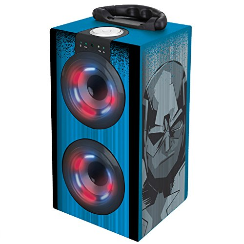 Vengadores, Marvel - Altavoz portatil, Mini Torre Sonido Luminosa, Bluetooth, Puertos USB/SD / MP3, batería Recargable (BT600AV)