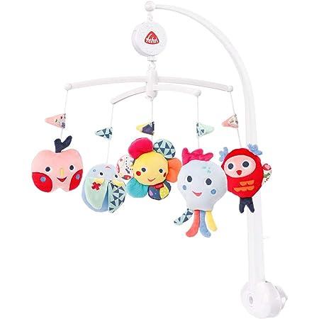 """Fehn 055191 - Mobile musicale Color Friends con carillon""""sognari"""" e simpatiche figure per calmare e occupazione, con fissaggio a letto per bambini da 0 a 5 mesi"""