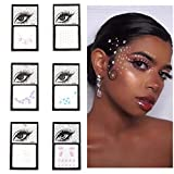 Fstrend Glitter Rhinestones Face Gems Mermaid Body Stickers Crystals Face Jewels Tattoo Sticker Clubwear Party Rave Festival Body Jewelry for Women and Girls(6 Pcs)