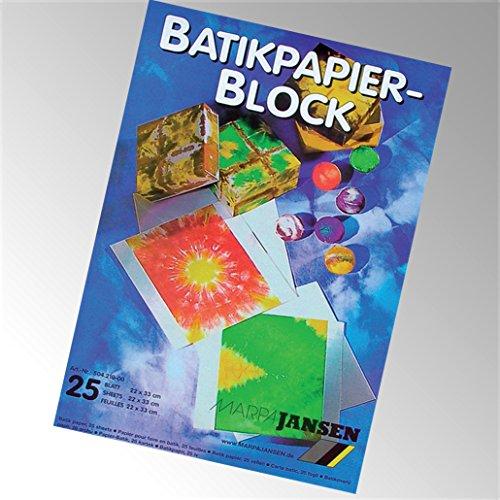 Batikpapier-Block, 22 x 33 cm, DIN A4 CMJ50421000