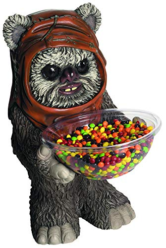 Party Palast - Star Wars Ewok Statue Candy Bowl Holder, perfekt für Jede Halloween und Karnevals Party, Grau