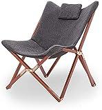 Plegables sillas de jardn cmoda terraza acampar al aire libre de playa plegable porttil silln reclinable sof silln reclinable saln reclinable relajado relaje oscuro gris perez,Dark gray